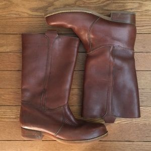 LL BEAN leather/shearling boots